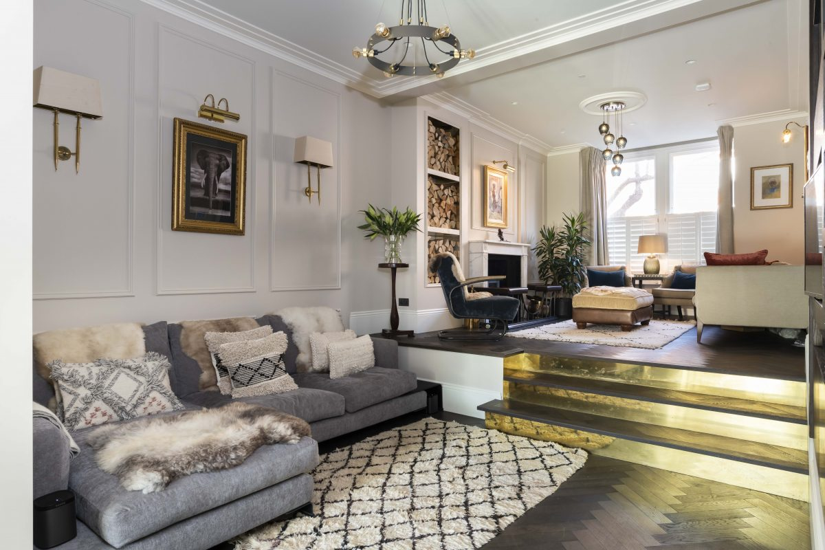 Our latest stylish and eclectic project in Fulham